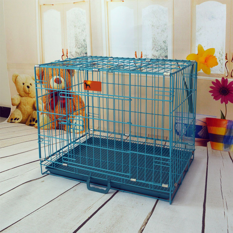 New Pet Cage Folding Dog Cat Puppy Crate Carrier Cage Playpen Kennel w/ABS Tray(China (Mainland))