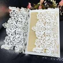 Свадьба поставок лазерная резка свадьба / бизнес / ну вечеринку на день рождения приглашения с конвертом и печать 30 шт./лот бесплатная доставка 6Z-CD032