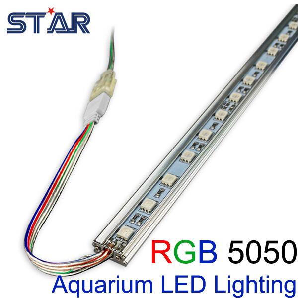 buy 50cm smd5050 aquarium led lighting fish tank 12v rgb led rigid bar strip. Black Bedroom Furniture Sets. Home Design Ideas