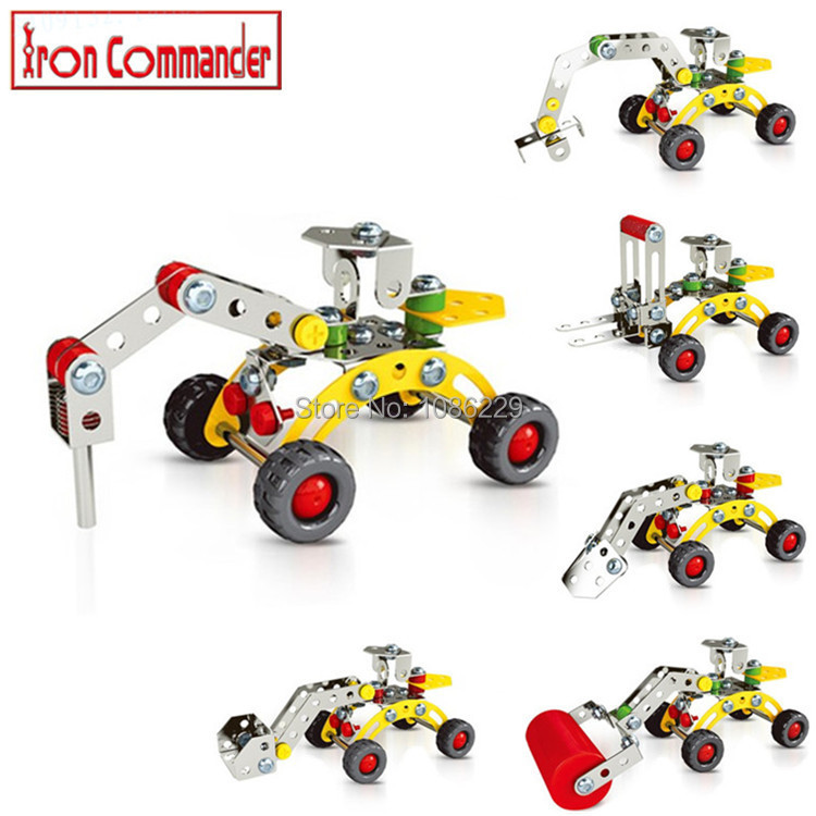product New! Model Building Kits Iron Engineering  Vehicles Boy Toys Model Cars Blocks Simulation Model Toy Cars Boys Toys