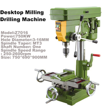 Brand New Heavy Industrial Bench Drill Single-axis Manual Control Desktop Milling Metal Drilling Machine High Quality(China (Mainland))
