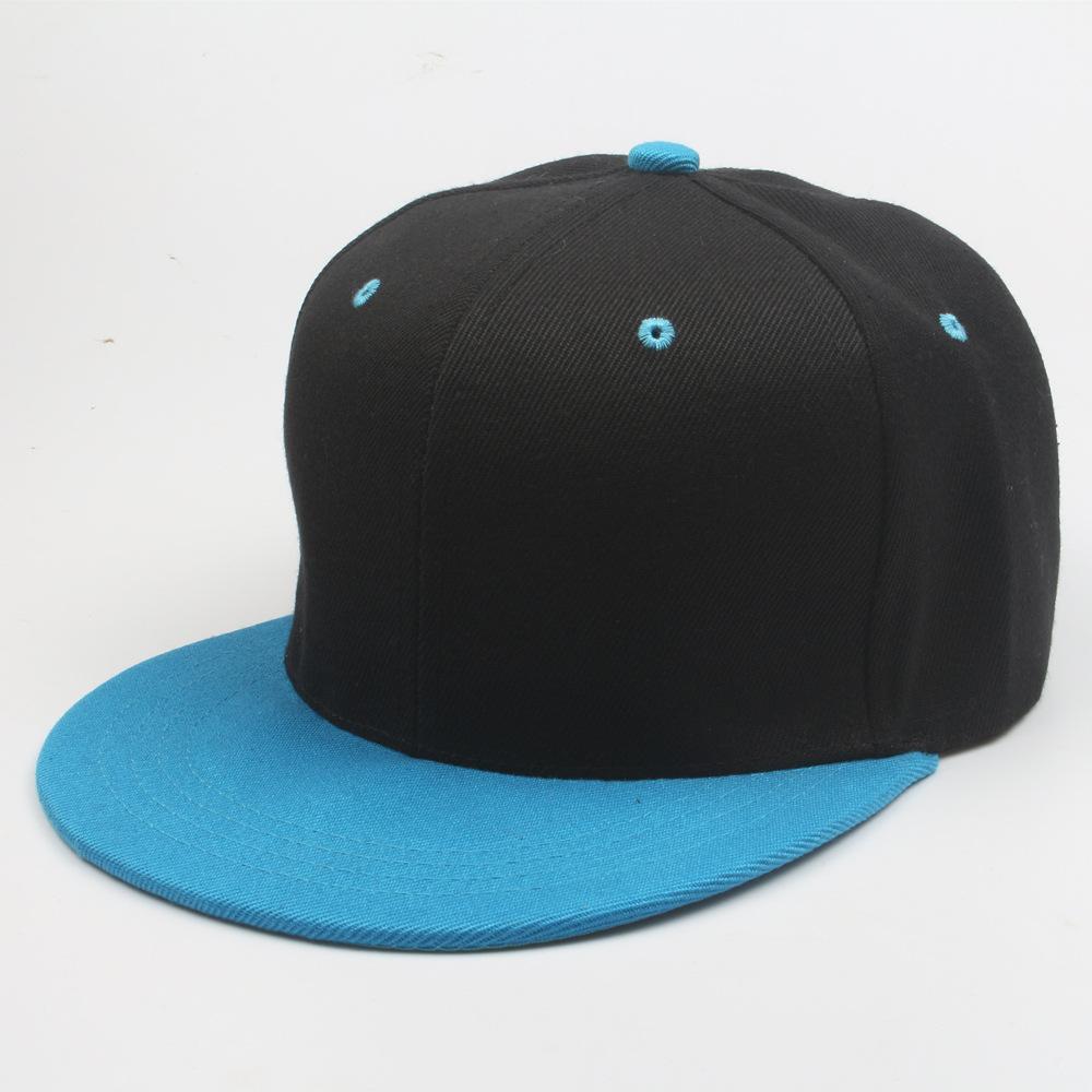Pure cotton baseball cap snapback cap Color matching hip-hop outdoor street baseball cap Monochrome hats for men and women