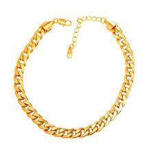 Мода Для Ног Ювелирные Изделия Лодыжке Браслет Для Женщин Желтого Золота Гальваническим кубинский Звено Цепи Ножной Браслет Браслет Ног Босиком Сандалии A755(China (Mainland))