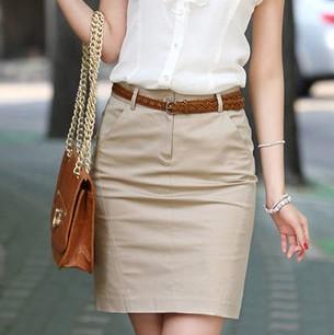 2015 Summer Women High Waist Knee-Length Pencil Skirt Womens Slim Hip Career Short Skirts Ladies Sexy 2 Colors Plus Size(China (Mainland))