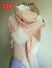 Za Winter Scarf Tartan Plaid Cashmere Scarf Pashmina New Designer Blanket Scarf Luxury Brand Triangle Women's Scarves and Wraps(China (Mainland))