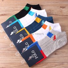 5pairs 2016fashion men's casual/sport summer spring cotton short socks patchwork men socks outdoor hot sell free shipping(nw117)(China (Mainland))