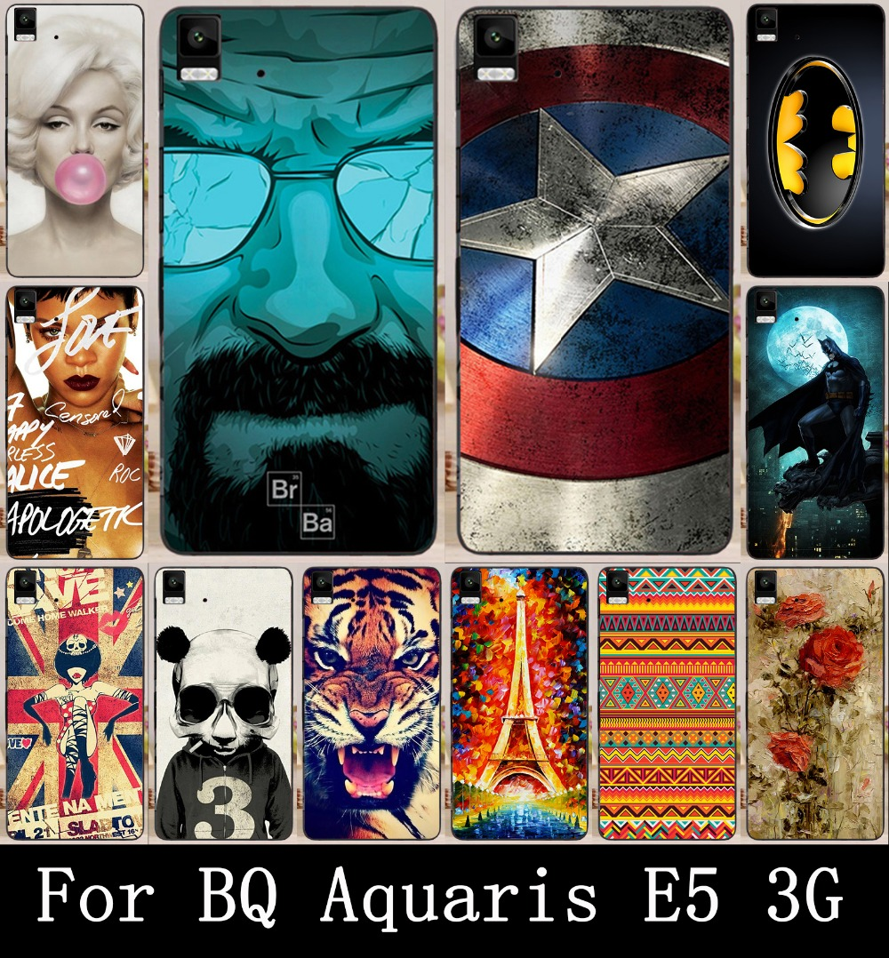 Гаджет  22 Patterns Colored Painting 3G Version BQ Aquaris E5 Case Cover, New Arrival Hard PC Back Cover For BQ Aquaris E5 Phone Cases None Телефоны и Телекоммуникации