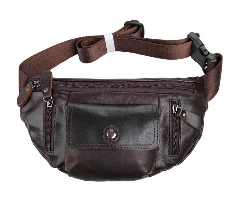 7209C J.M.D  Vintage Style Excellent Genuine Leather Waist Packs  Fanny Pack Purse<br><br>Aliexpress