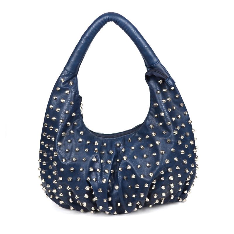 Women luxury tote bag Rivet bags for women Lady PU leather handbag High Quality Generous Noble PU Bag TCB11289 Free Shipping<br><br>Aliexpress