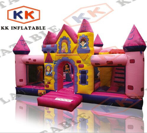 Air bounce , Jumping Bed Princess Playhouse Castle Bouncer with Different Printing(China (Mainland))