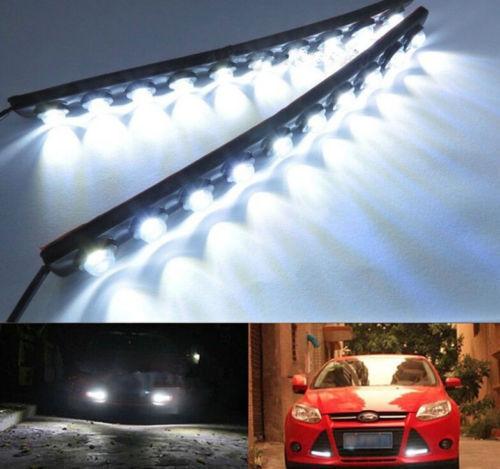 2x 10LED Car DRL Bright Driving Daytime Running Fog Day Light Head Lamp<br><br>Aliexpress