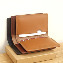 LAN  100% genuine Cow leather men's bank card holder  small credit card case slim card case (China (Mainland))