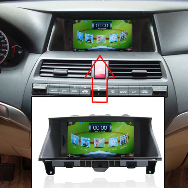 Car GPS Navigation for Honda Accord 8 2008-2012 with USB Player+DVR+Capacitance Touch Screen screen-sharing For Android phones(China (Mainland))