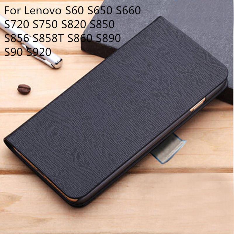 Hot Original Flip Leather Wallet Phone Cover Case For Lenovo S60 S650 S660 S720 S750 S820 S850 S856 S858T S860 S890 S90 S920(China (Mainland))