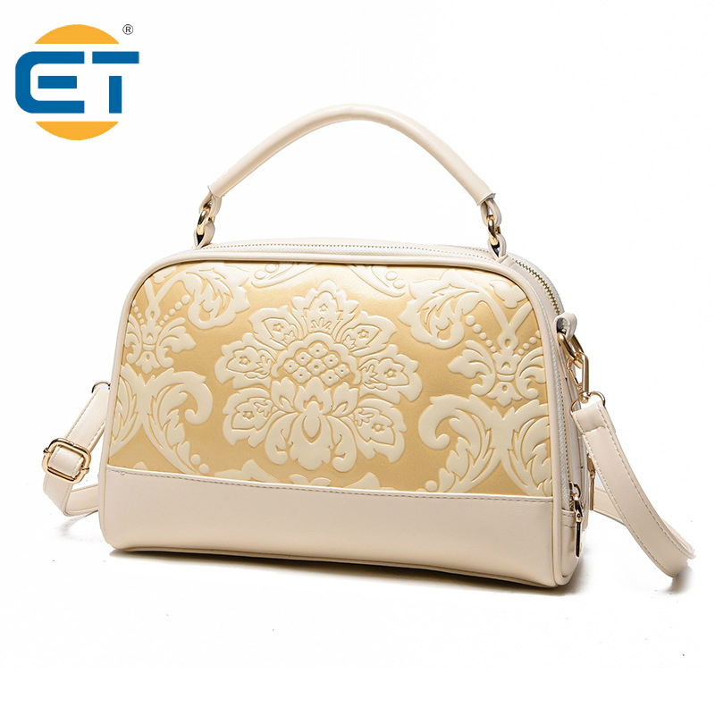New Chinese Style PU Leather Floral Flap Hand Bags Vintage One Shoulder Bag Small Package Crossbody messenger bag(China (Mainland))