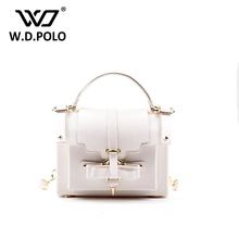 W.D.POLO Genuine leather pe bucket bag famous brand design clasp lock shoulder bag marca famosa mujer women bag sylish bag z1003(China (Mainland))