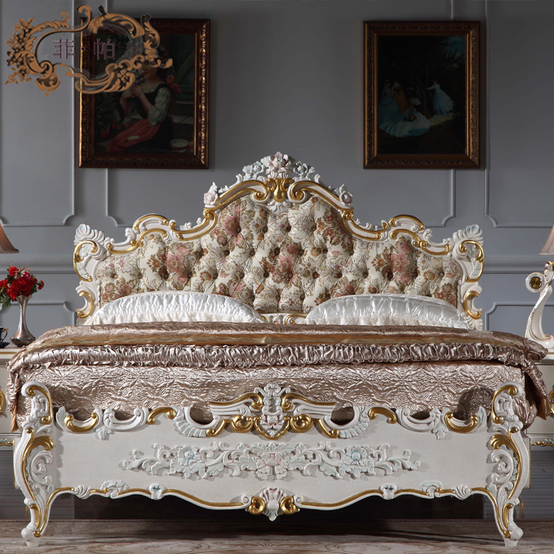 Baroque European Furniture Royal Antique Furniture Bedroom