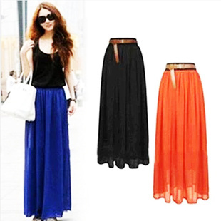 Beautiful New 2014 Winter Skirts Womens Casual Long Leather Skirt Women High