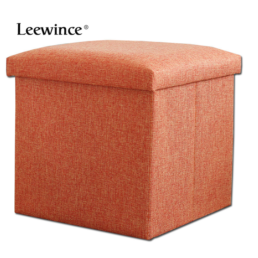 Leewince Linen Folding Organizer Storage Box Bench Footrest Stool Coffee  Table Cube,Fishing Stool, - Compare Prices On Storage Stool Cube- Online Shopping/Buy Low