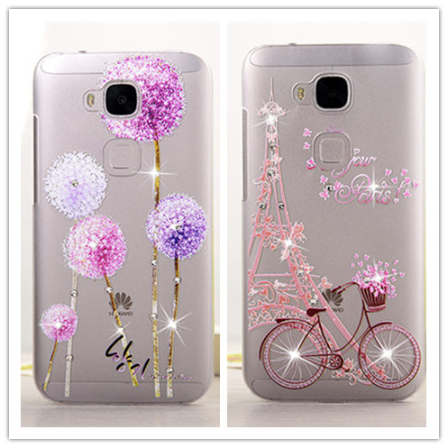 Crystal Rhinestone Bling For Huawei G8 Case, Case Protector Cover For Huawei Ascend G8 D199 (Maimang 4) 3D Diamond Phone Bags(China (Mainland))