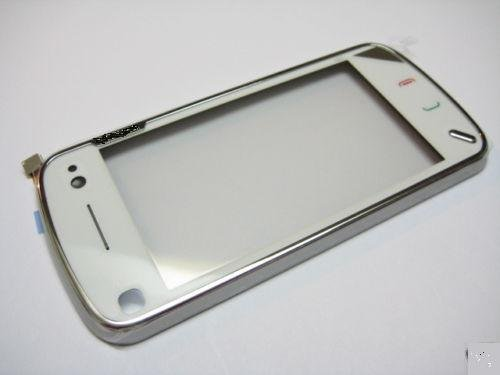 Repair part Touch Screen Digitizer with frame For Nokia N97 White(Hong Kong)