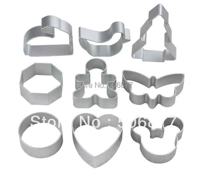 Free Shipping New 8pcs/lot Fashion Weding Decorating Cake Tools Bakeware Metal Moulds Multi Style Stainless Steel Cake Moulds(China (Mainland))