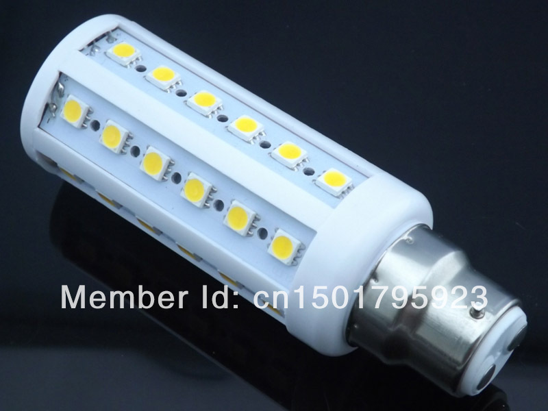NEW Hot  LED Lamp B22 9W 5050 SMD 44 LED Corn Light Bulb Lamp Lighting 110V / 220V AC CE ROHS -- free shipping<br><br>Aliexpress