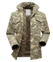 Men Windbreaker Tactical Jacket With Warm Inner Camouflage Field Jacket Military Fans M65 Winter Jacket Size M-XXXL(China (Mainland))