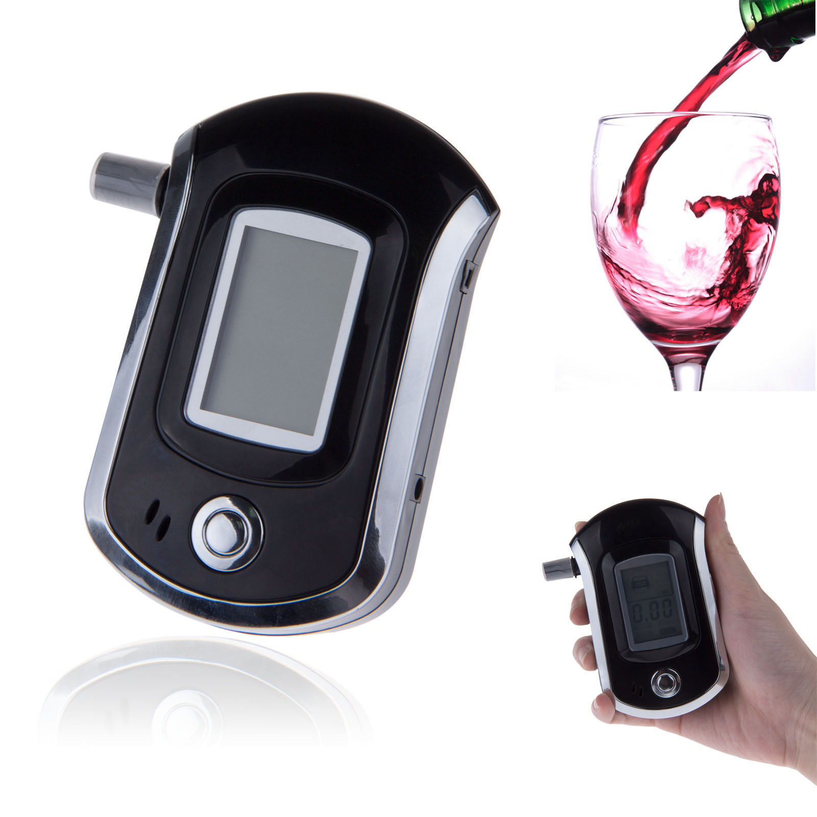 BS-6000 Portable Police Grade Digital Alcohol Analyzer Tester LCD Breathalyzer Free shippingFree Shipping(China (Mainland))
