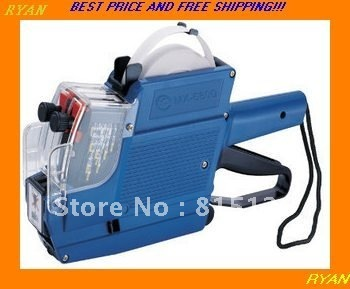 Free shipping  price tag labeling machine double row English &digit  store price labeler