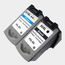 Buy 2Pack PG 50 CL 51 Black Color Ink Cartridge Compatible For Canon Pixma MP160 MP180 MP150 MP170 IP2200 IP6220D printer for $20.72 in AliExpress store