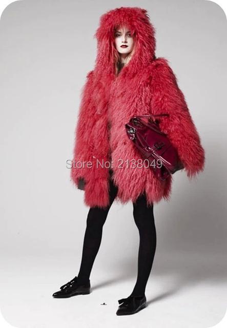 Fc045 теплая зима шуба / женщины толстые теплые шубы мода / на заказ