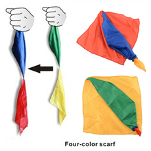 Hot New Change Color Silk Scarf For Magic Trick By Mr. Magic Streets Props Tools Toys Gift Randomly(China (Mainland))