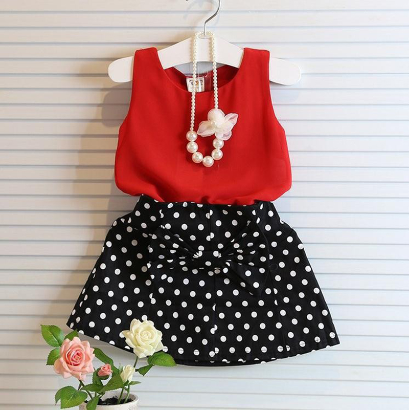 Hot Girls Clothing Sets Pleated Lace Vest Two-piece Children Casual Conjunto Fashion Girls Clothes Suit Skirt 2~14age(China (Mainland))