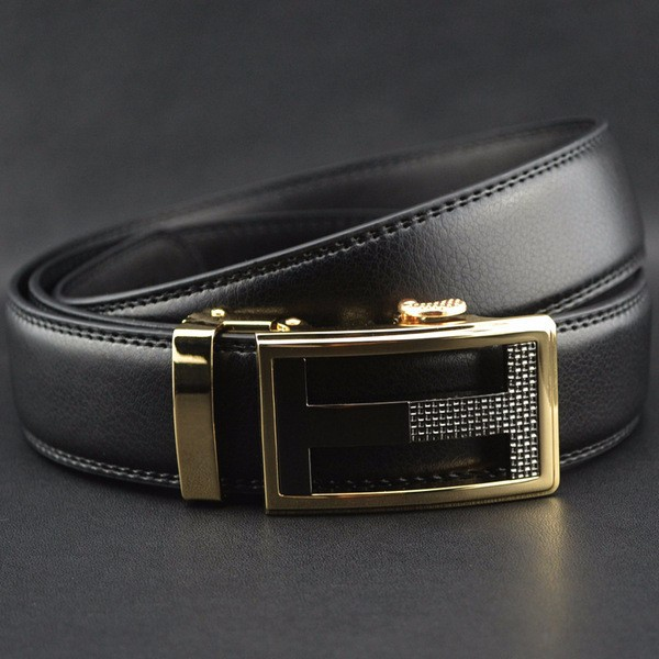 Famous Brand Belt Men 100% Good Quality Cowskin Genuine Luxury Leather Men's Belts for Men,Strap Male Metal Automatic Buckle 122