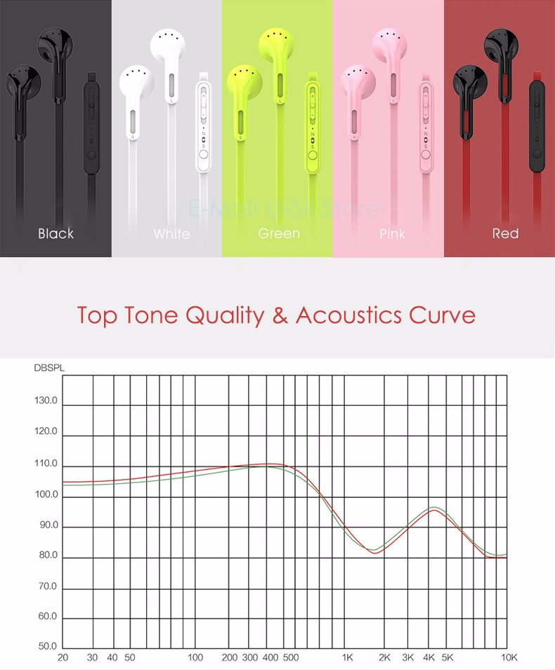 UiiSii U2 In Ear Earphone with Volume Control Super Heavy Bass Hifi Headset with Microphone for IOS Andriod Phone fone de ouvido