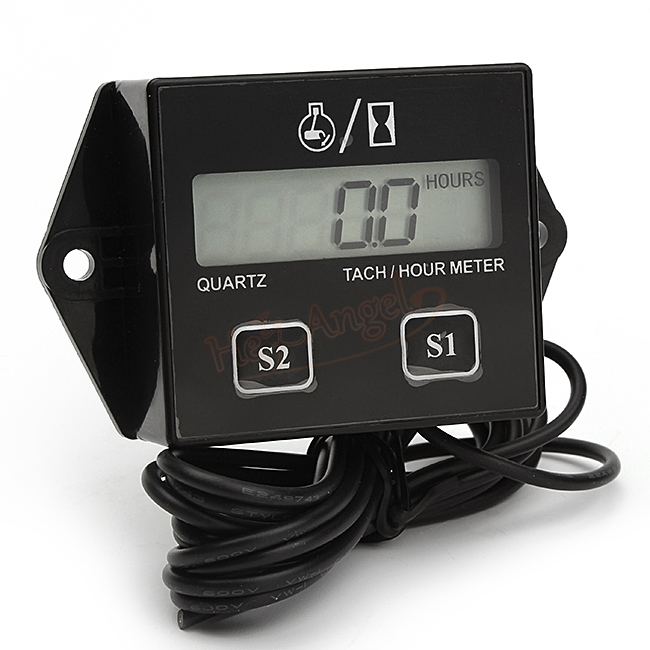 Tachometer Car Hour meter 2&4 Stroke Engine Spark For Boat/Motorcycle/Bike 12V CAR Drop Shipping(China (Mainland))