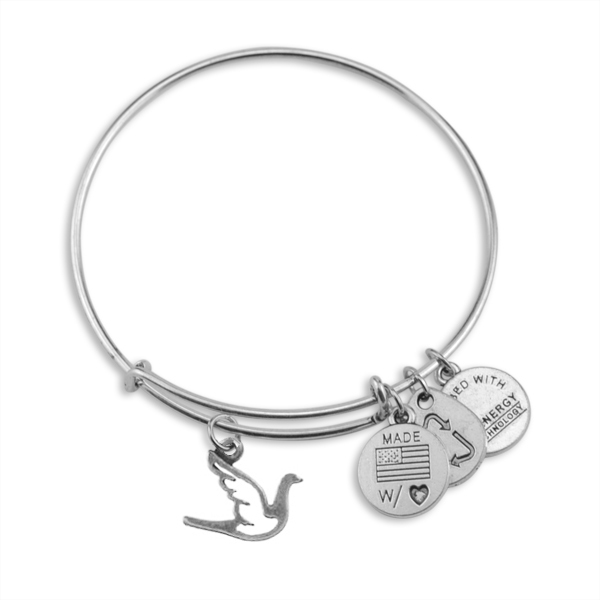 10pcs a lot Antique Silver Plated or Bronze Plated Channel Setting Expandable Flying Bird Animal Charm Bangles(China (Mainland))