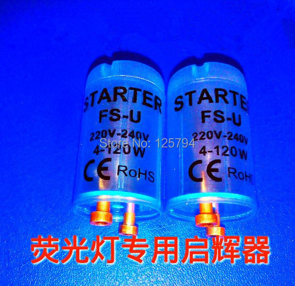 fluorescent tube fuse starter with blue clear housing AC220V-240V 4-120W fluorescent lamp Fuse starter pass CE ROHS(China (Mainland))
