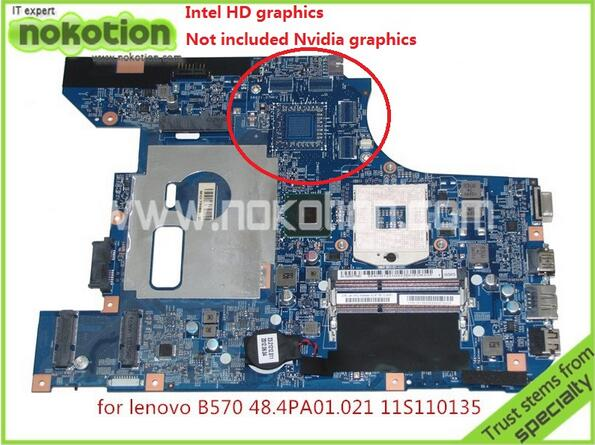 Brand Mainboard 11S11013533 48.4PA01.021 LZ57 MB For lenovo B570 Z570 Laptop motherboard intel HM65 HD3000 graphics DDR3(China (Mainland))