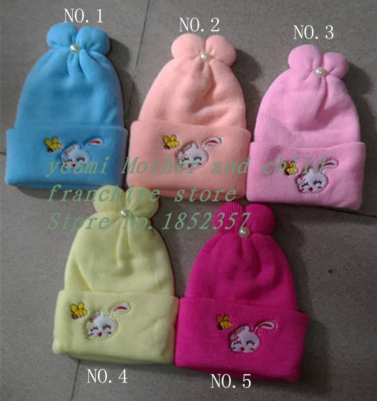 Lovely Warm cashmere fabrics Knitted Cotton Beanie Cap for Baby Boy and Girls newborn baby(China (Mainland))