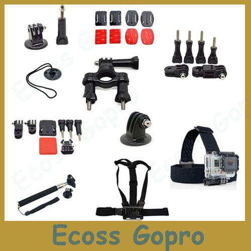 Sale Items!Free shipping Gopro Accessories Kit Gopro mounts Accessories for Gopro Hero 3 2 gopro accessories<br><br>Aliexpress