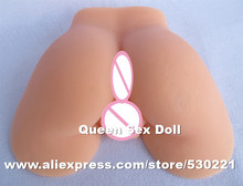 top quality japanese reality 1:1 silicone ass pussy and ass sex toy fake ass sex toy man masturbator sex products(China (Mainland))