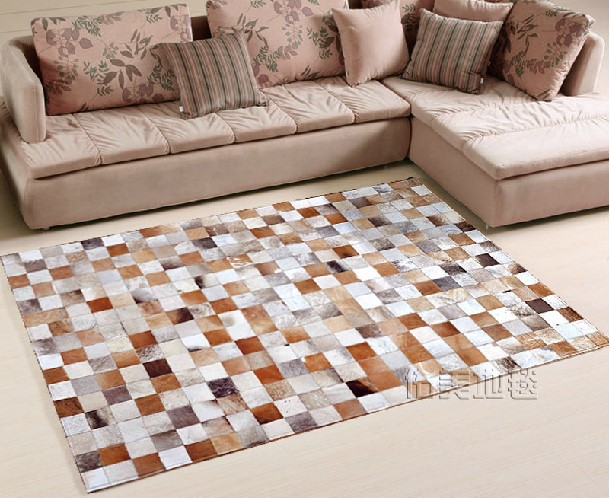 Здесь можно купить  Free shipping 1 piece via DHL 100% natural cowhide leather afghan rugs  Дом и Сад