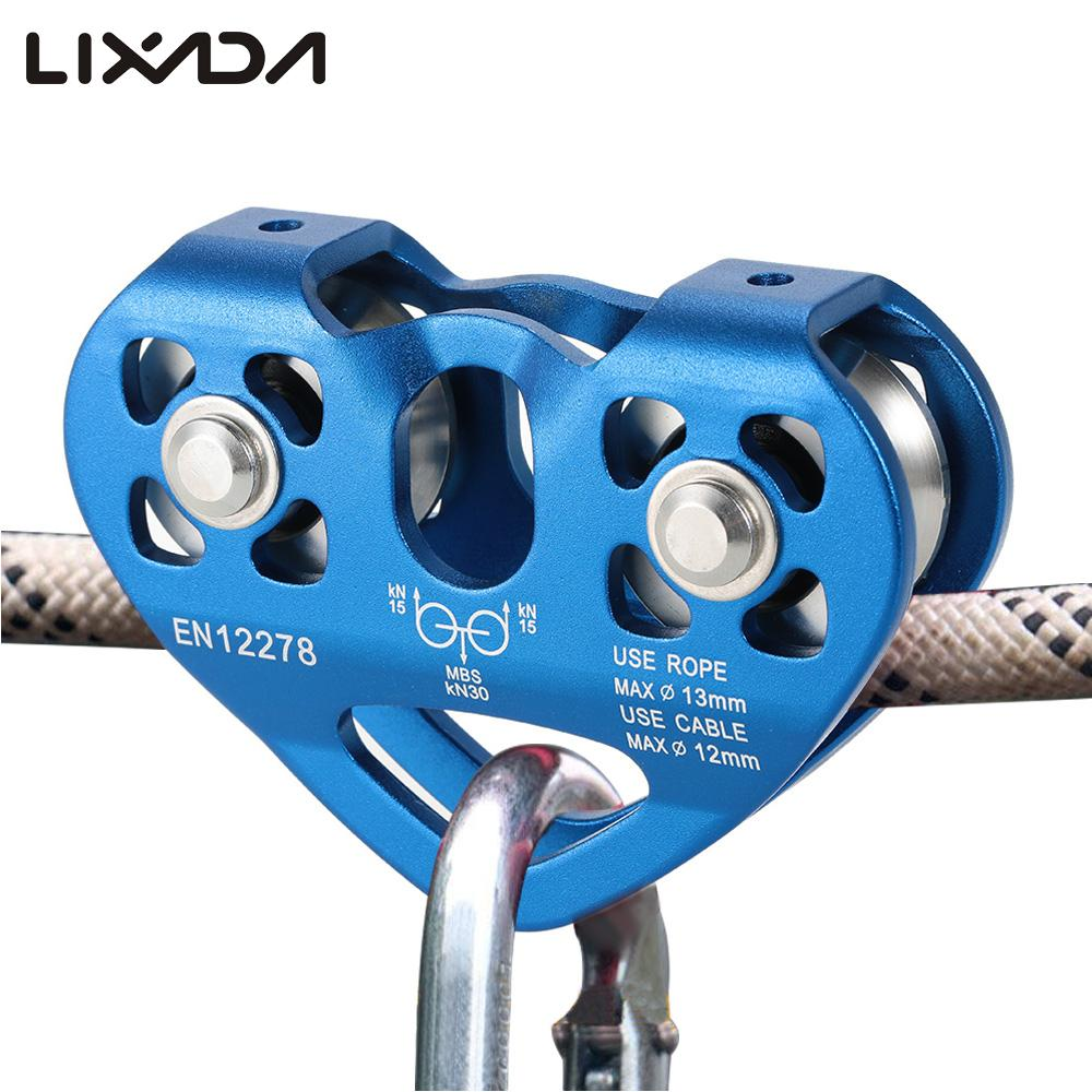 Lixada Outdoor Rock Ice Climbing Equipment 30KN Workload 30KN Breaking Load Rescue Cable Trolley Aluminum Alloy Speed Pulley(China (Mainland))