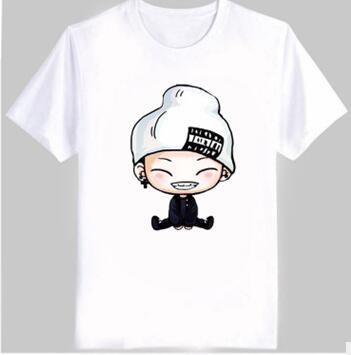 New Men's Women's summer kpop t shirt ikon cute cartoon comic images print bobby B.I t shirt women plus size cotton t-shirt(China (Mainland))