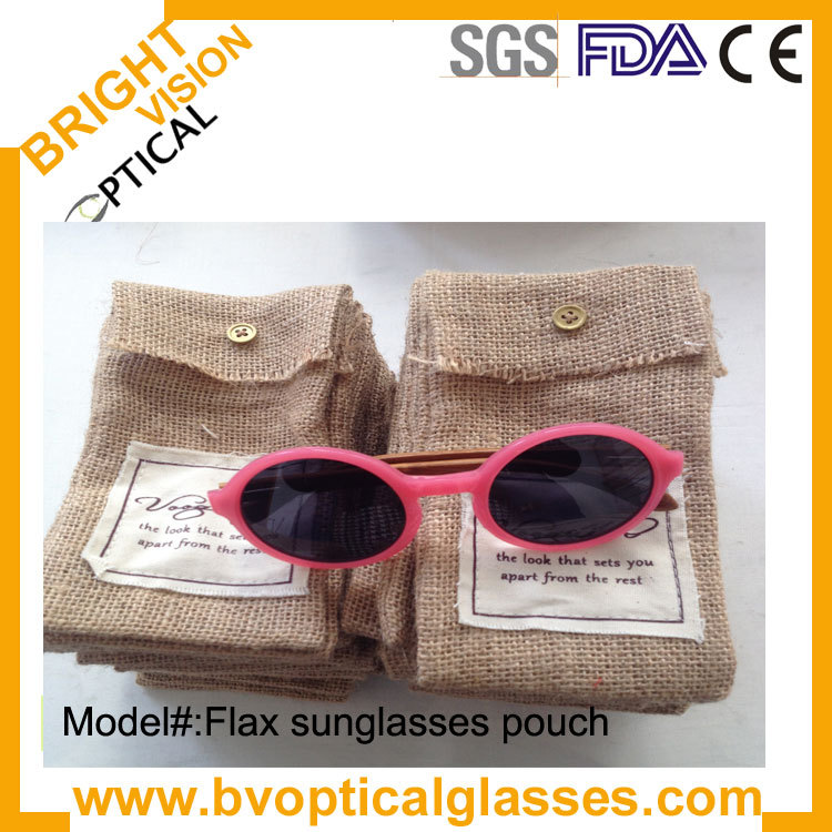 Convenient using good quality and low price for women and men flax eyeglasses sunglasses pounch(eyeglasses pouch)(China (Mainland))