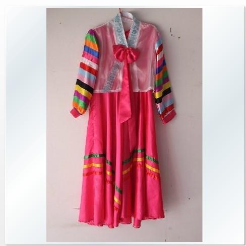 Nueva tradicionales mujeres coreanas Hanbok coreano trajes de danza Hanbok vestido coreano ropa tradicional(China (Mainland))