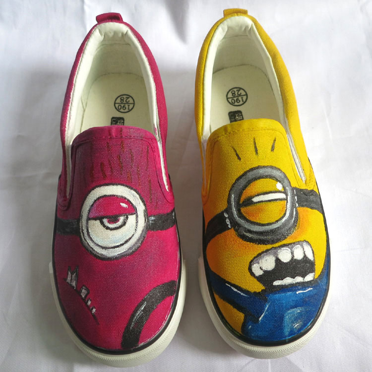 breathable minion series low slip on style canvas