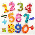 Hot marketing 15pcs Fridge Magnets Magnetic Wooden Math Toy Early Learning Montessori Educational Toys Wooden Maths